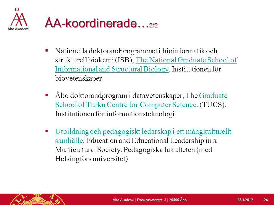 Åbo Akademi | Domkyrkotorget 3 | 20500 Åbo