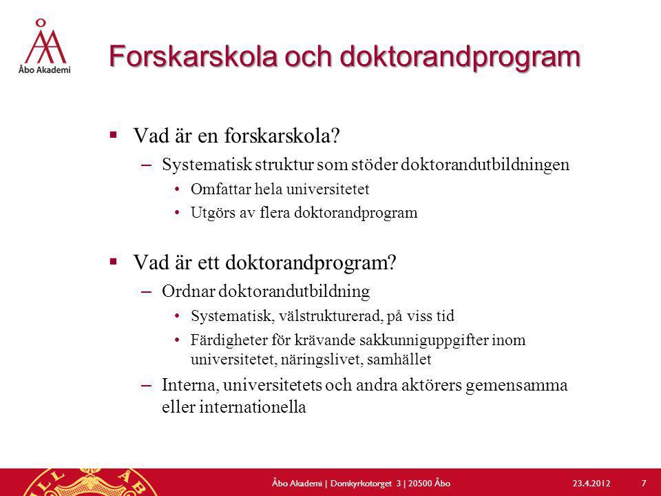 Forskarskola och doktorandprogram
