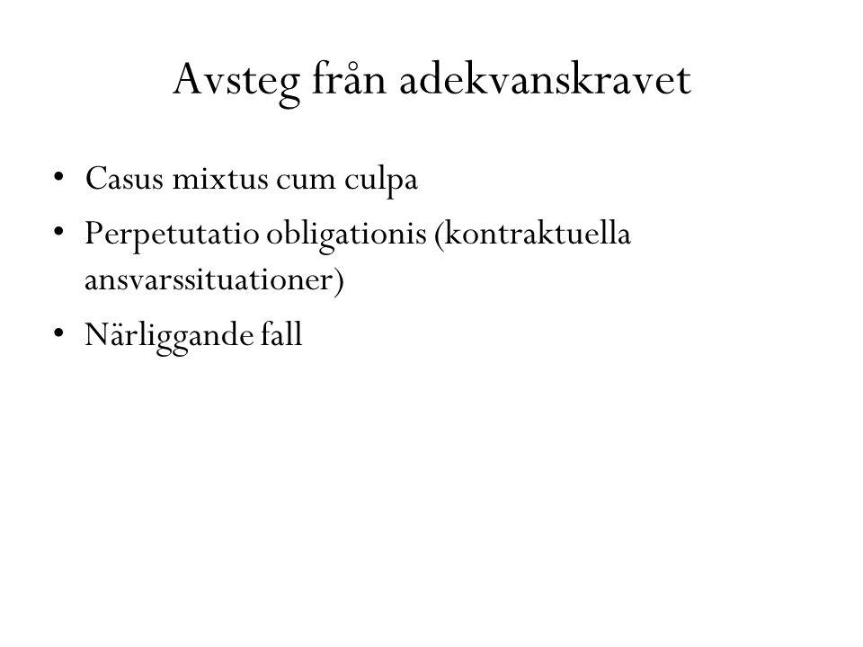 Avsteg från adekvanskravet