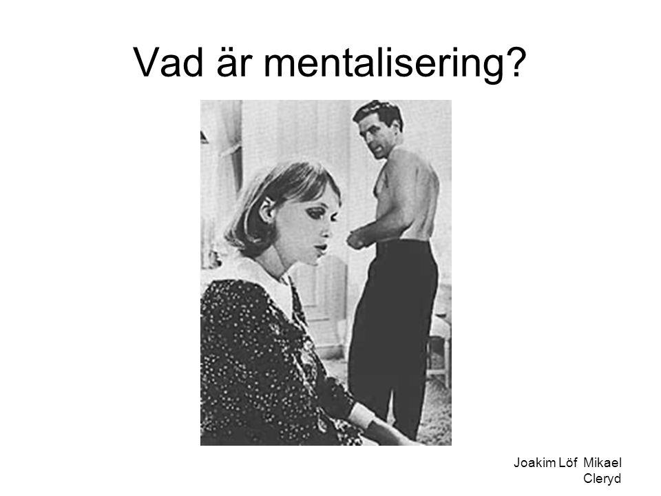 Vad är mentalisering Joakim Löf Mikael Cleryd