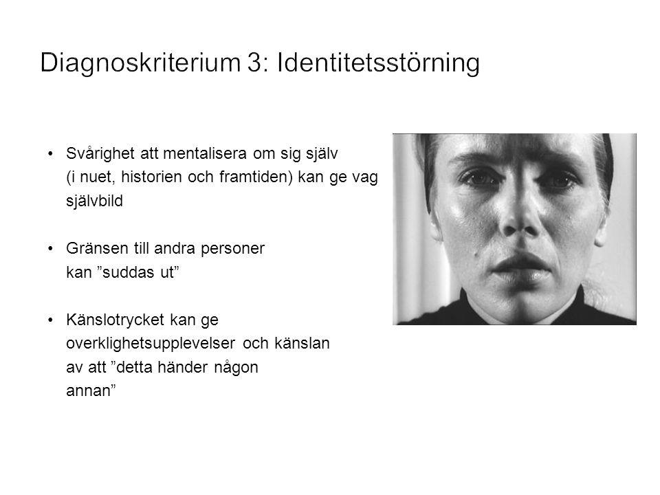 Diagnoskriterium 3: Identitetsstörning