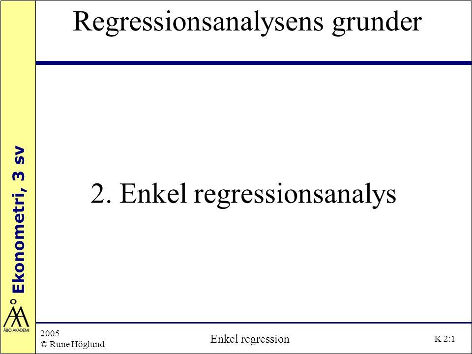 2. Enkel regressionsanalys