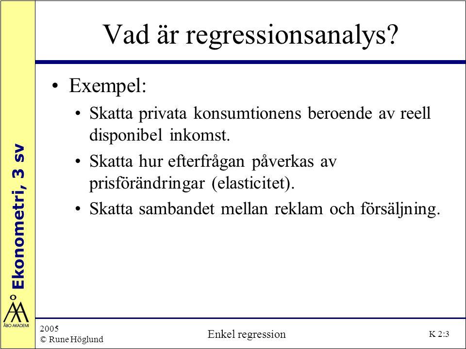 Vad är regressionsanalys