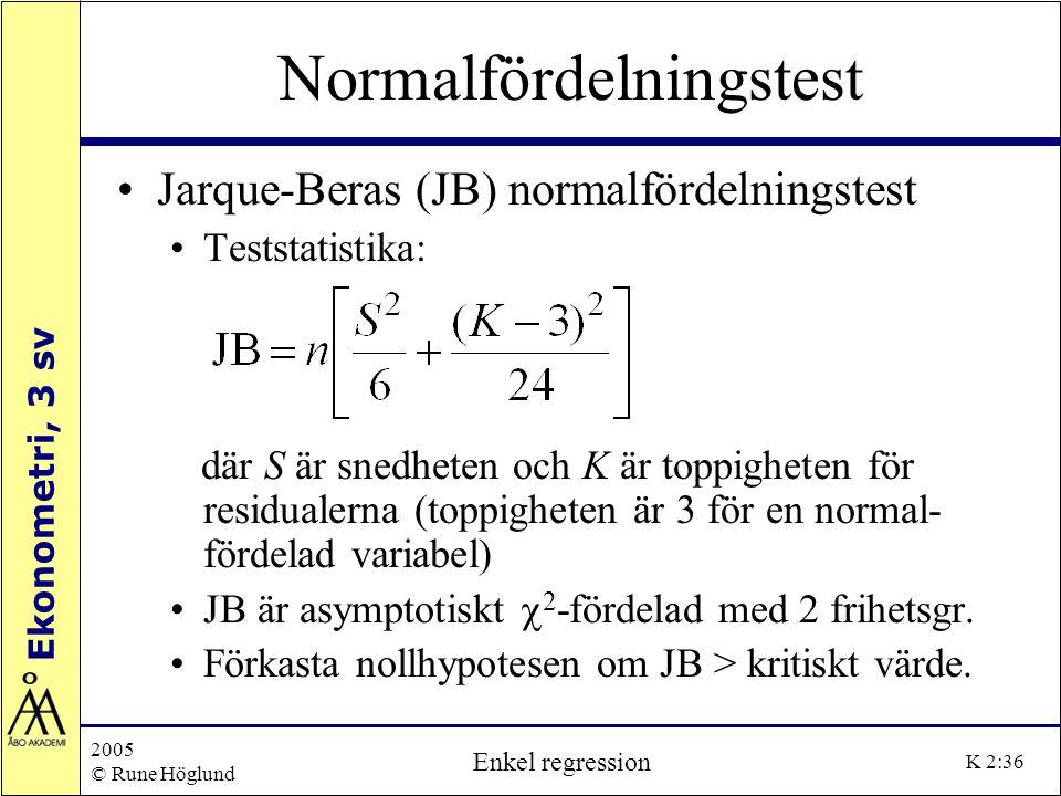 Normalfördelningstest
