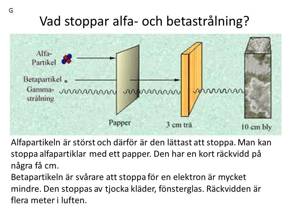 Vad stoppar alfa- och betastrålning