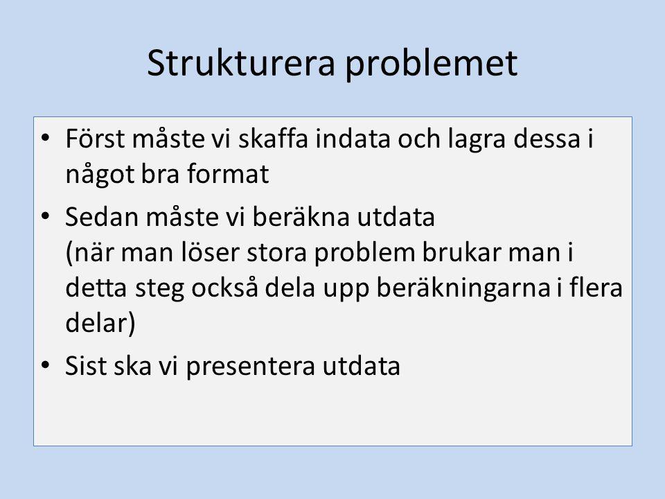Strukturera problemet