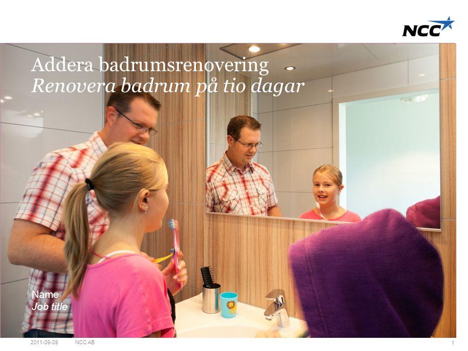 Addera badrumsrenovering Renovera badrum på tio dagar