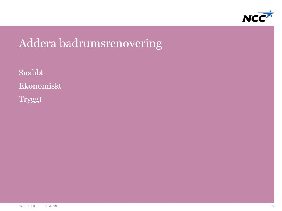 Addera badrumsrenovering