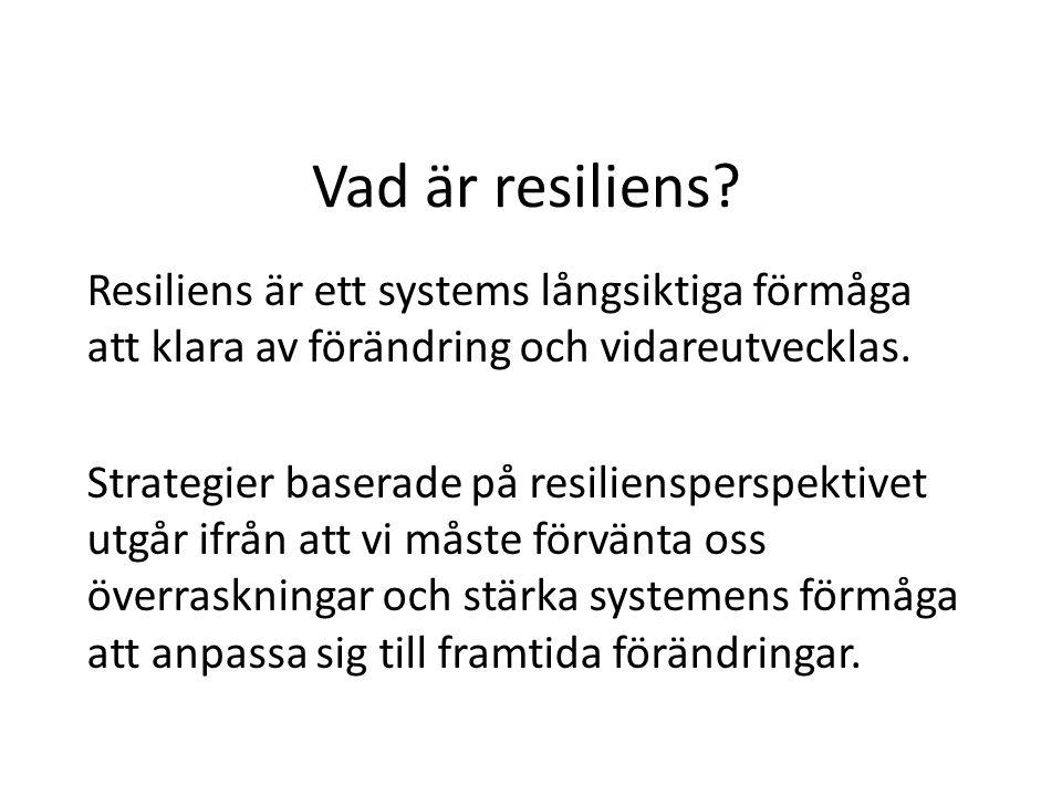 Vad är resiliens