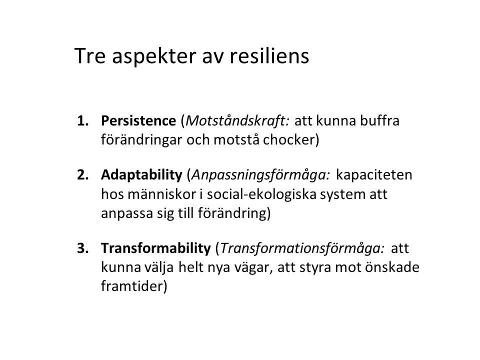 Tre aspekter av resiliens