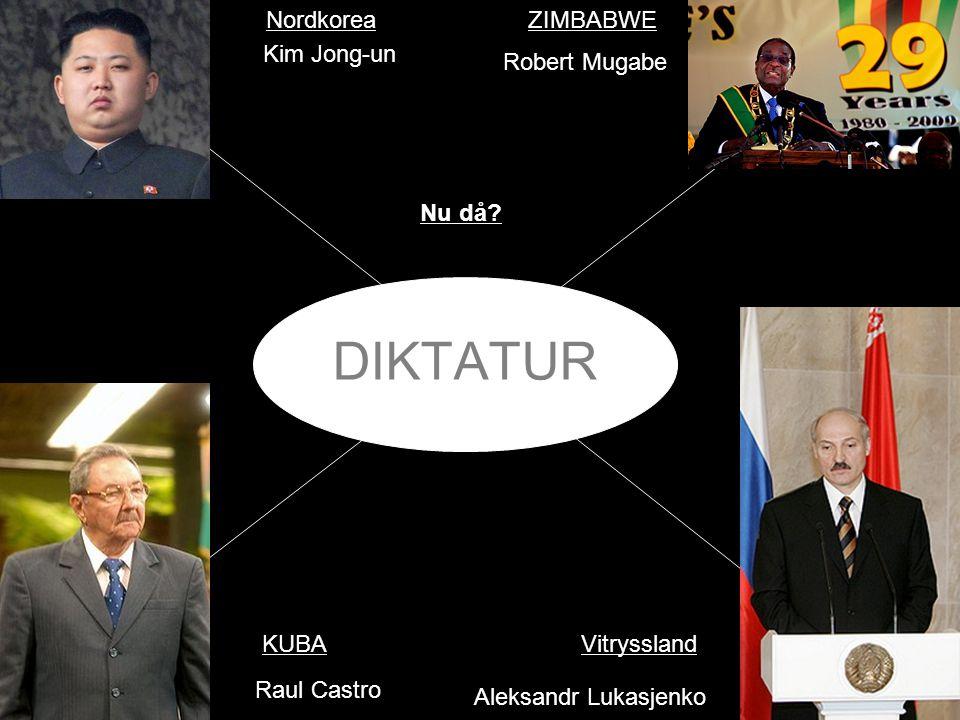 DIKTATUR Nordkorea ZIMBABWE Kim Jong-un Robert Mugabe Nu då KUBA