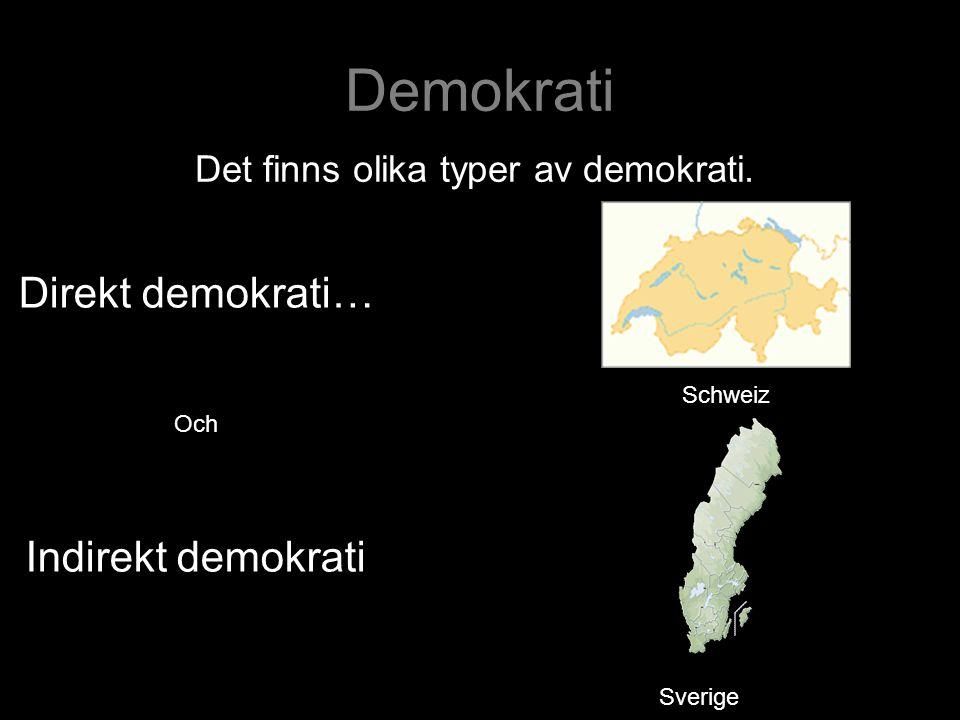 Demokrati Direkt demokrati… Indirekt demokrati