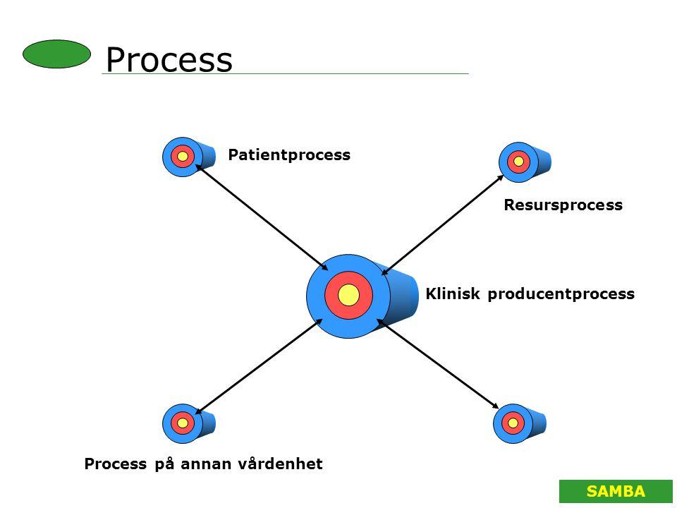 Process Patientprocess Resursprocess Klinisk producentprocess