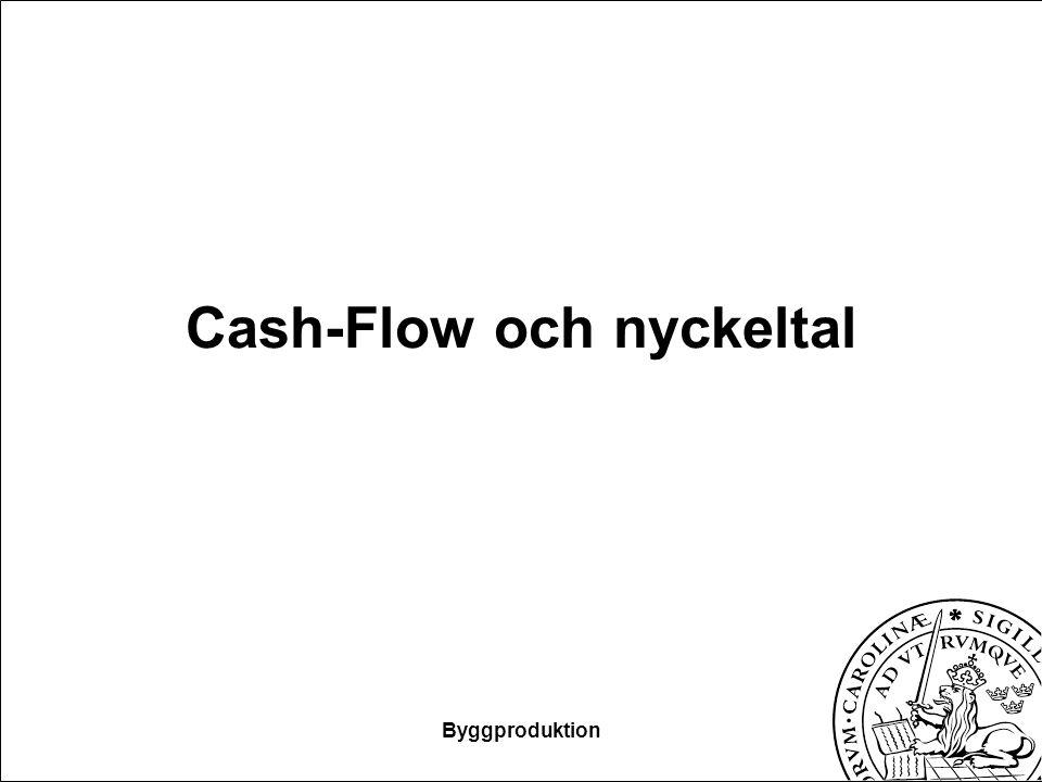 Cash-Flow och nyckeltal