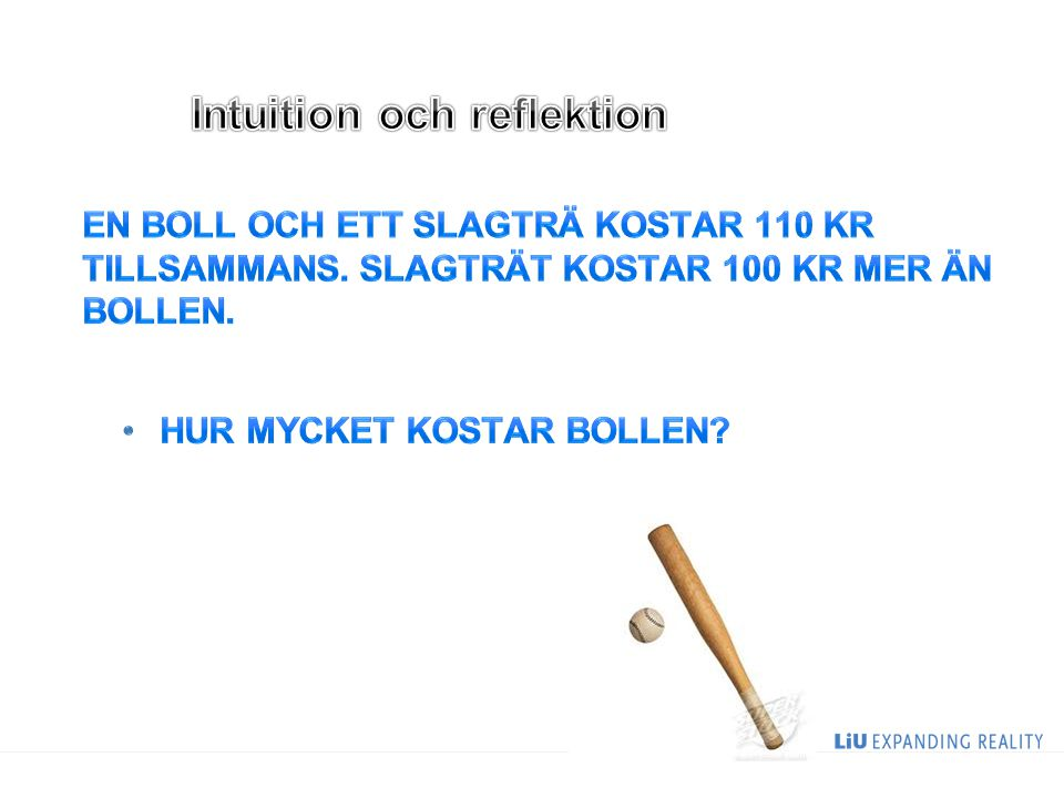 Intuition och reflektion