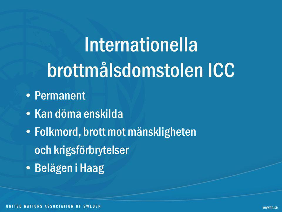 Internationella brottmålsdomstolen ICC