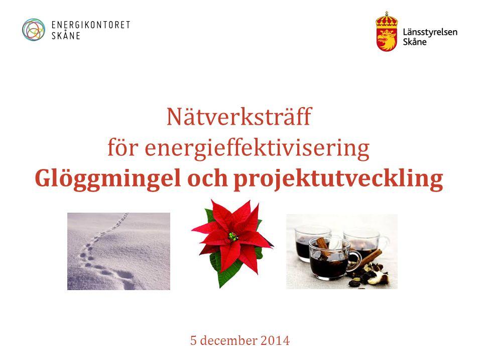 Nätverksträff för energieffektivisering Glöggmingel och projektutveckling 5 december 2014