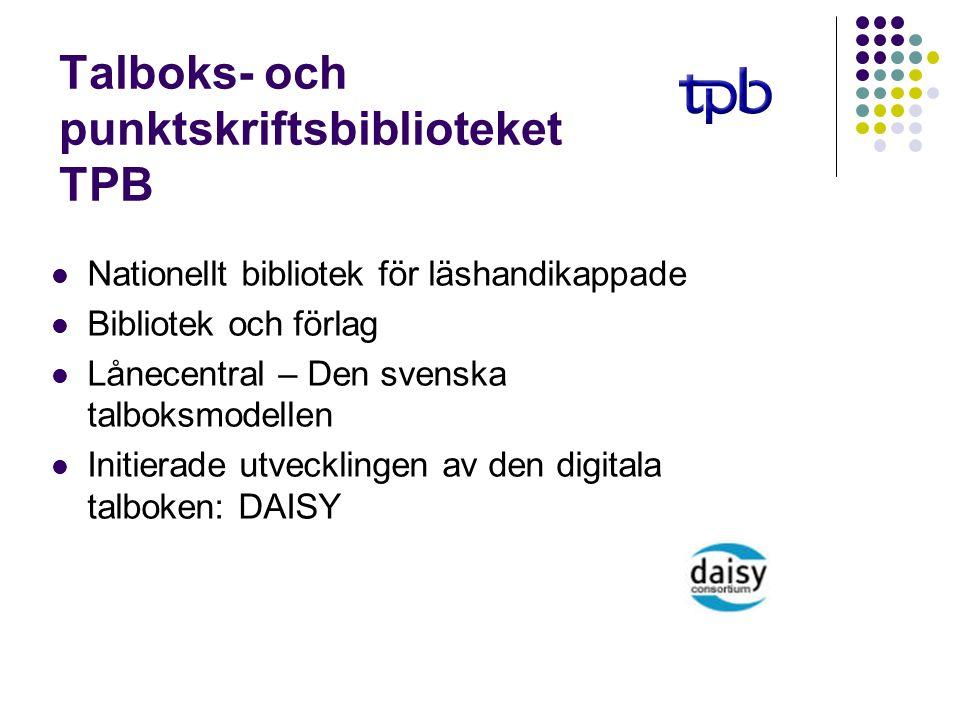 Talboks- och punktskriftsbiblioteket TPB