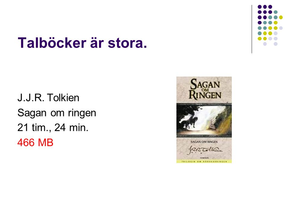 J.J.R. Tolkien Sagan om ringen 21 tim., 24 min. 466 MB