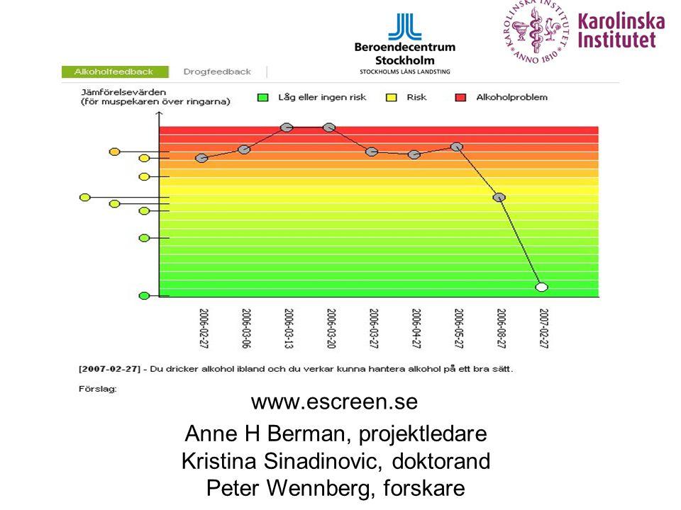 eScreen, minskar den drogproblemen