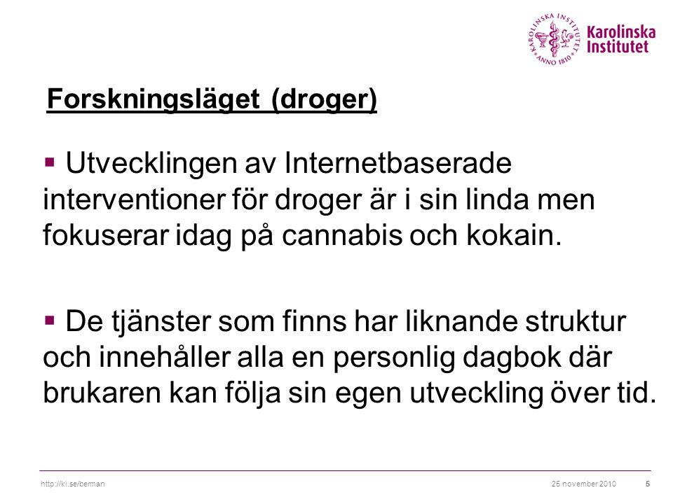 Forskningsläget (droger)