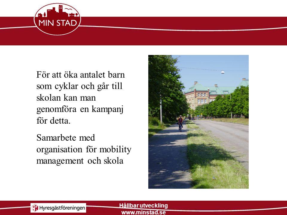 Hållbar utveckling www.minstad.se
