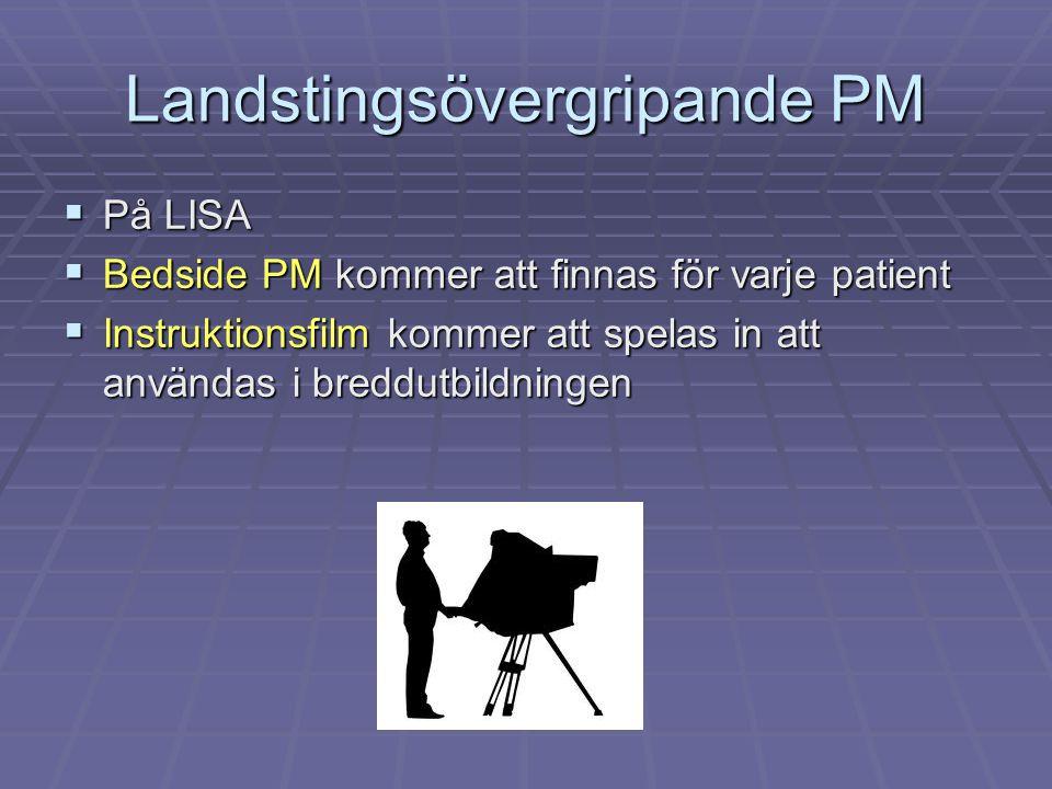 Landstingsövergripande PM