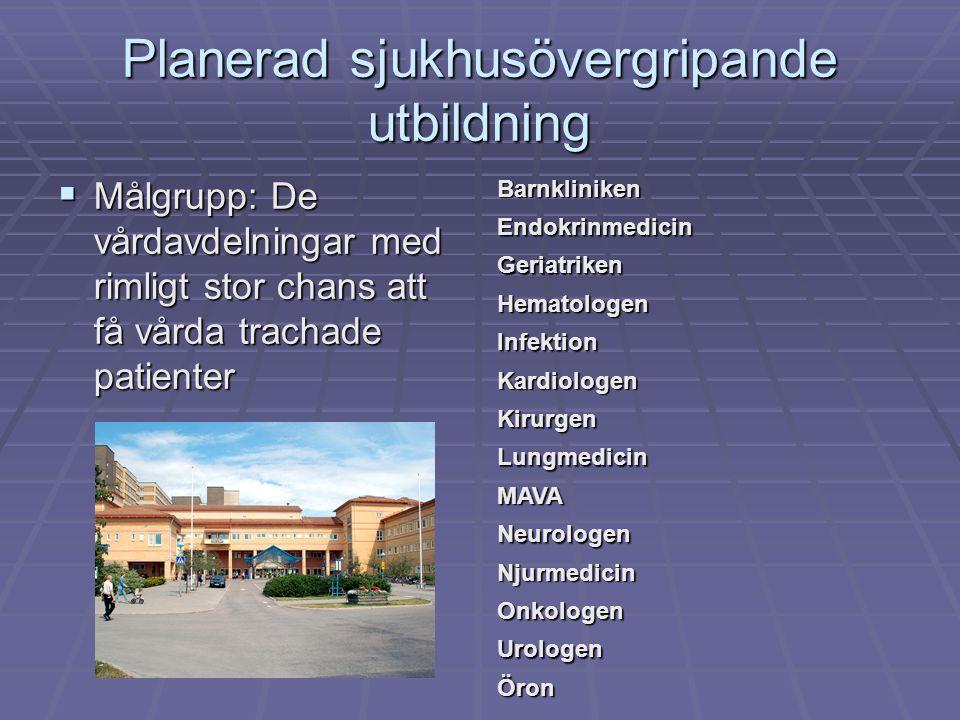 Planerad sjukhusövergripande utbildning