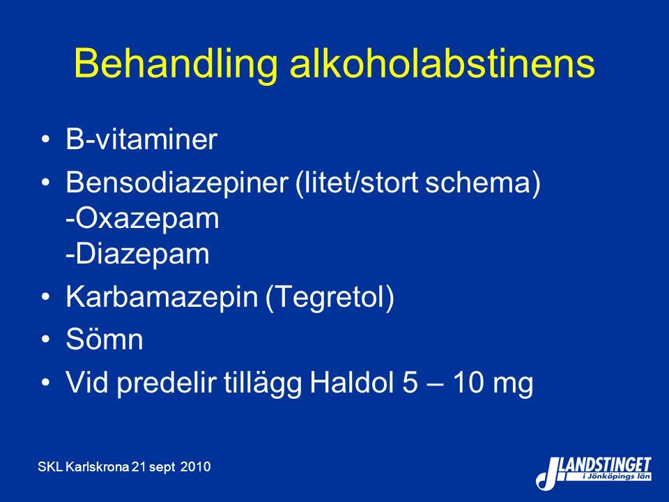 Behandling alkoholabstinens