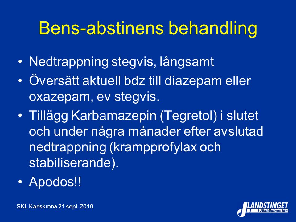 Bens-abstinens behandling