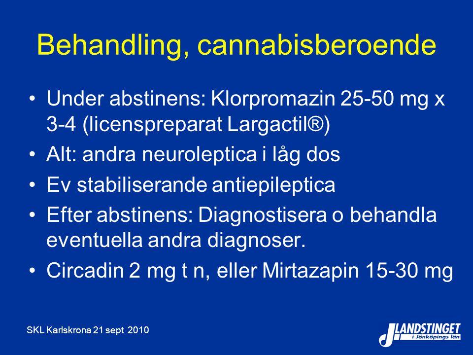 Behandling, cannabisberoende