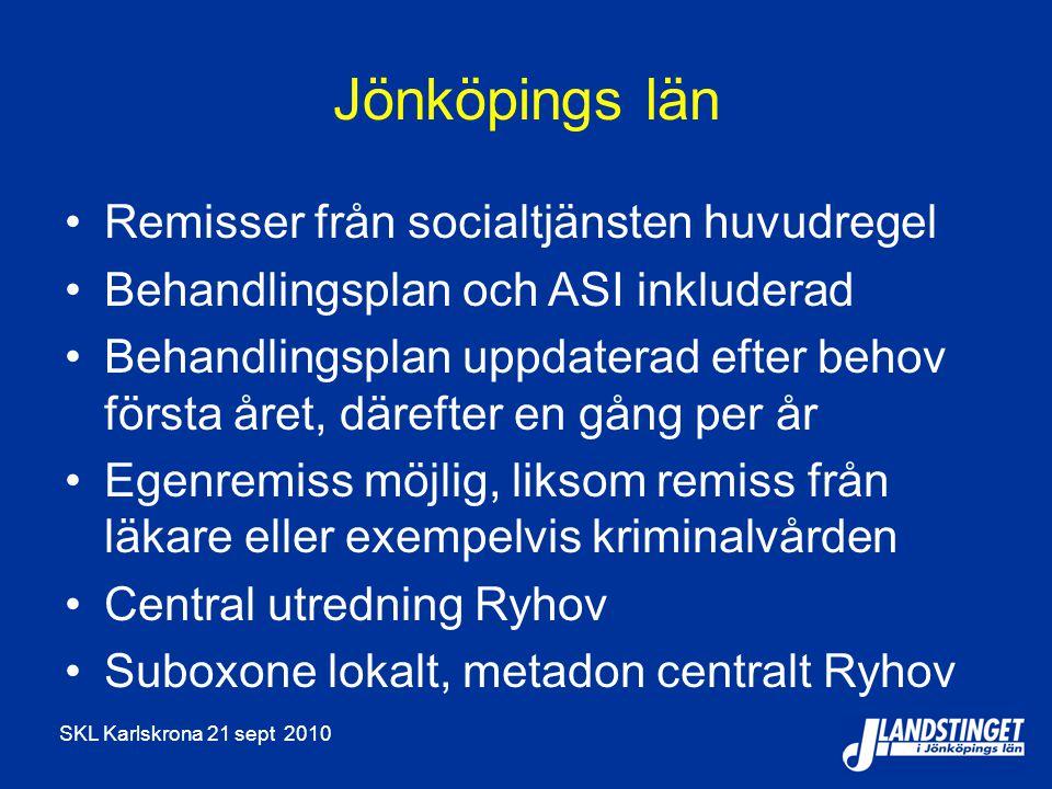 Jönköpings län Remisser från socialtjänsten huvudregel