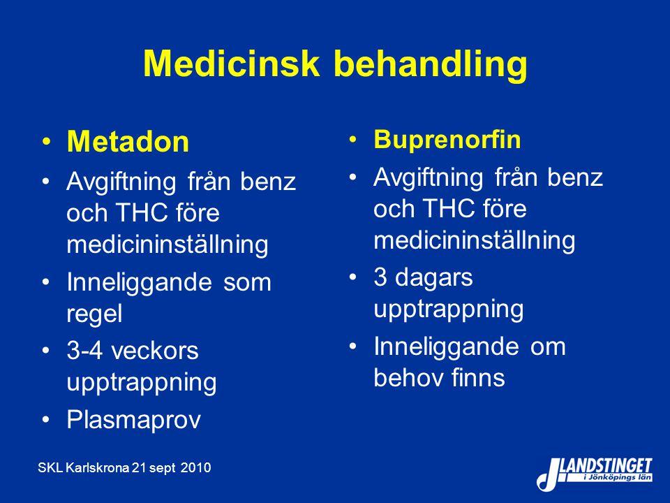 Medicinsk behandling Metadon Buprenorfin