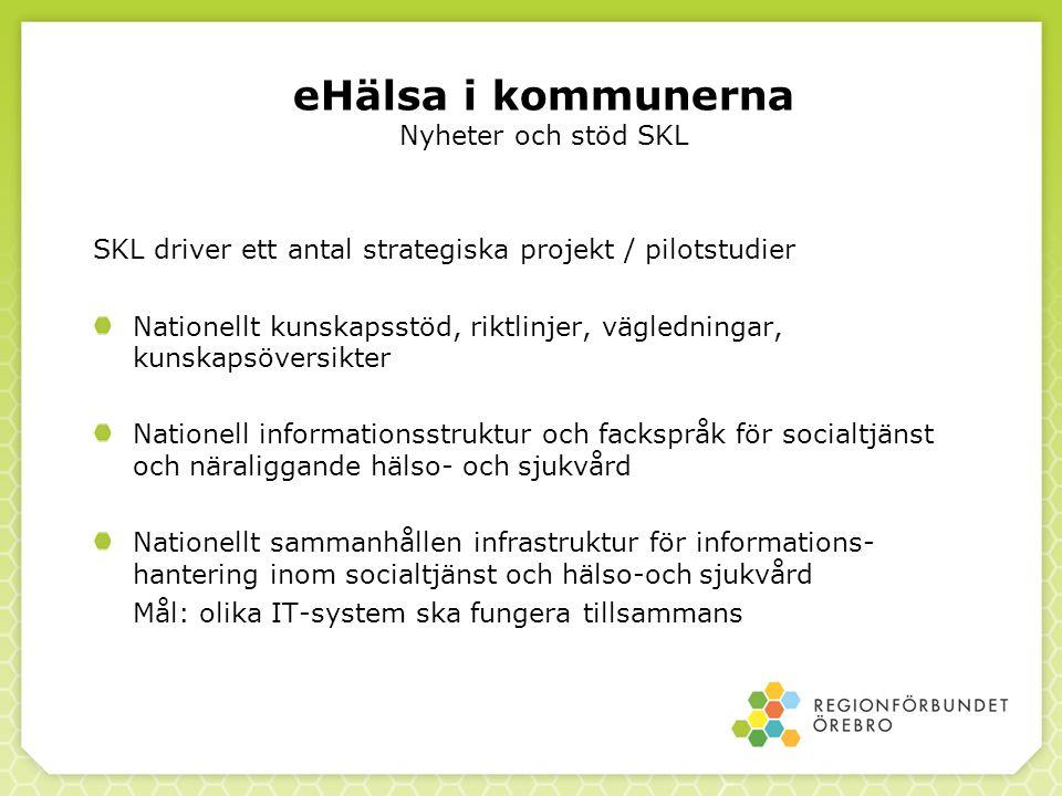 eHälsa i kommunerna Nyheter och stöd SKL