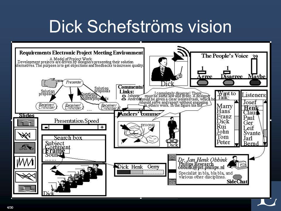 Dick Schefströms vision