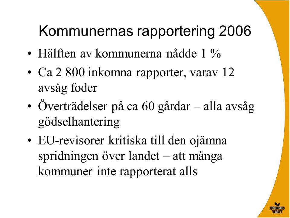 Kommunernas rapportering 2006