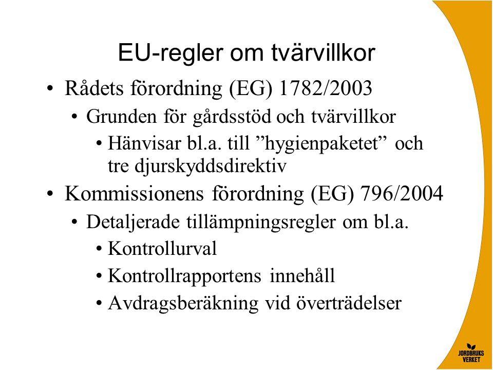 EU-regler om tvärvillkor