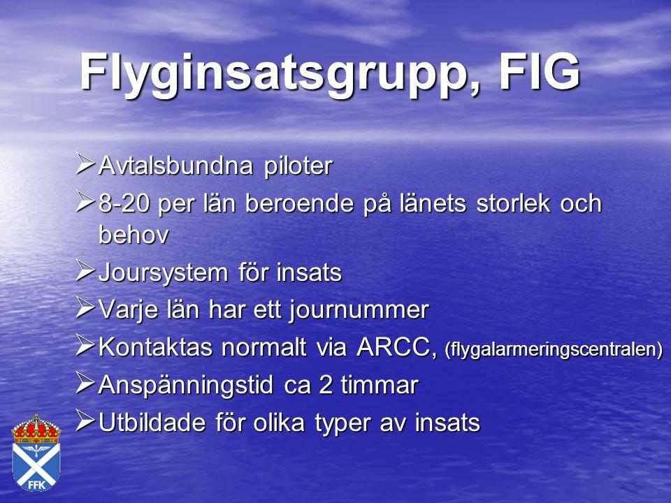 Flyginsatsgrupp, FIG Avtalsbundna piloter