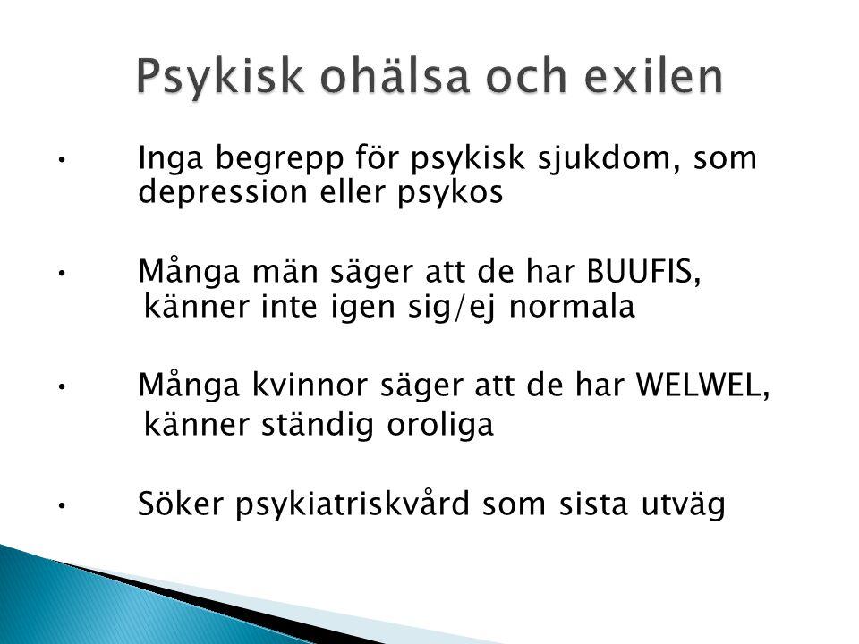 Psykisk ohälsa och exilen