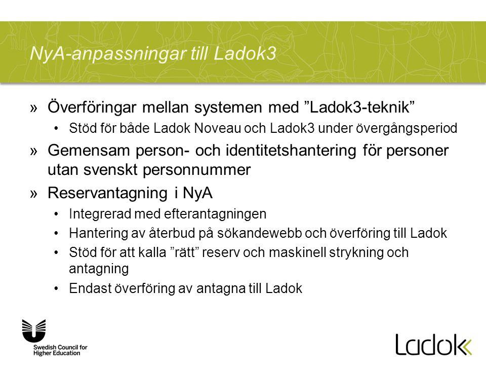 NyA-anpassningar till Ladok3
