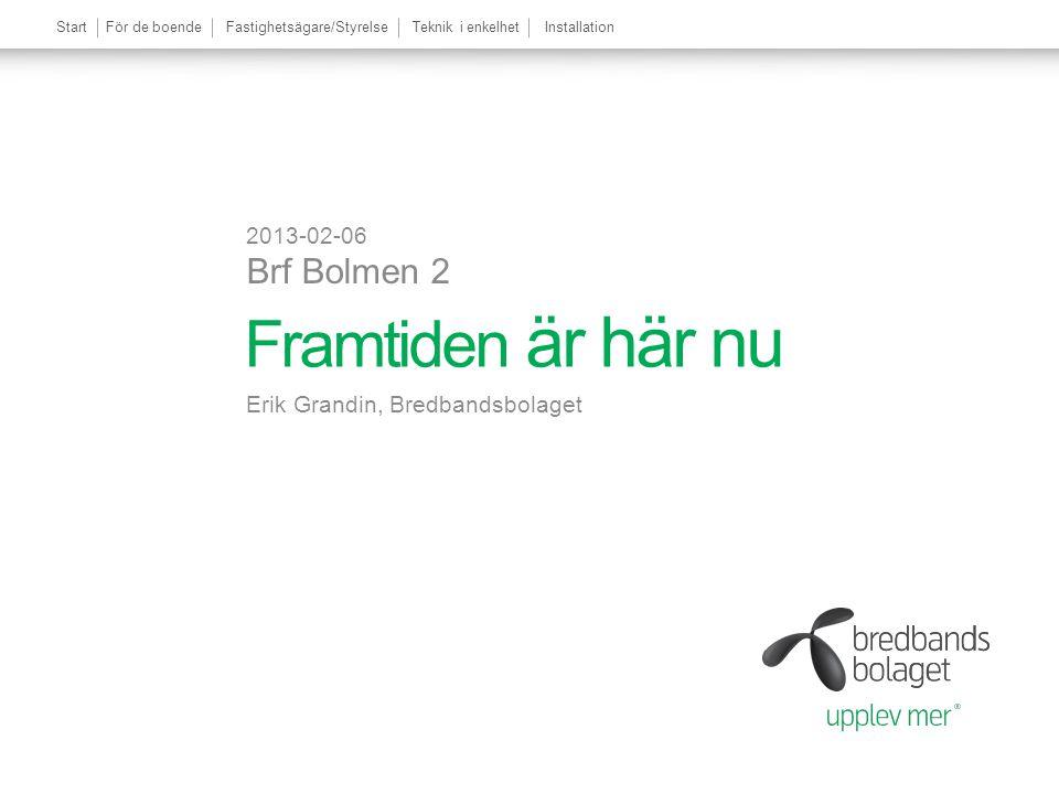 Framtiden är här nu 2013-02-06 Brf Bolmen 2