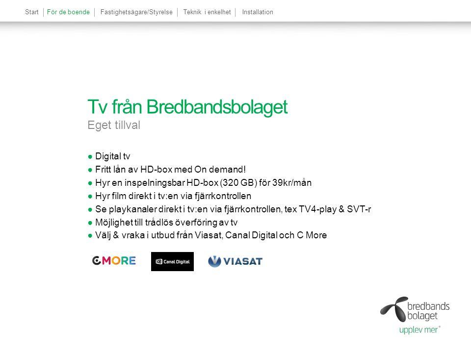 Tv från Bredbandsbolaget Eget tillval