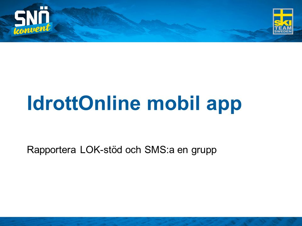 IdrottOnline mobil app