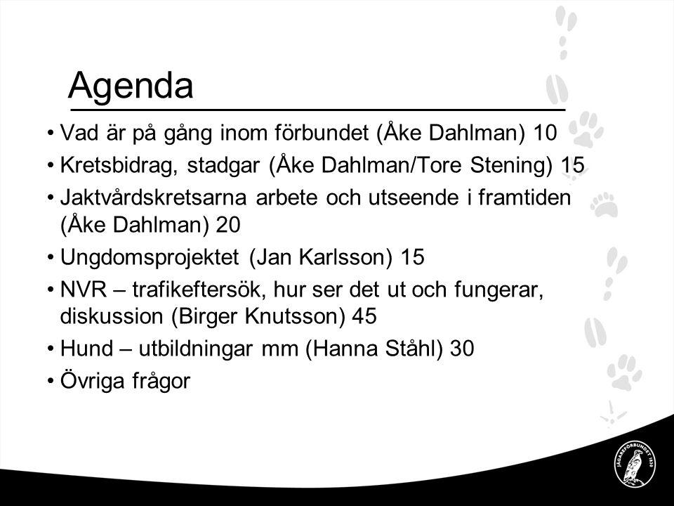 Agenda Vad är på gång inom förbundet (Åke Dahlman) 10