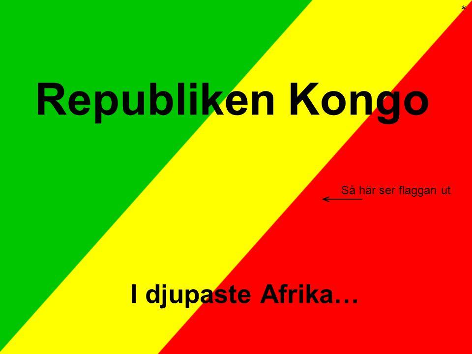 * Republiken Kongo Så här ser flaggan ut I djupaste Afrika…