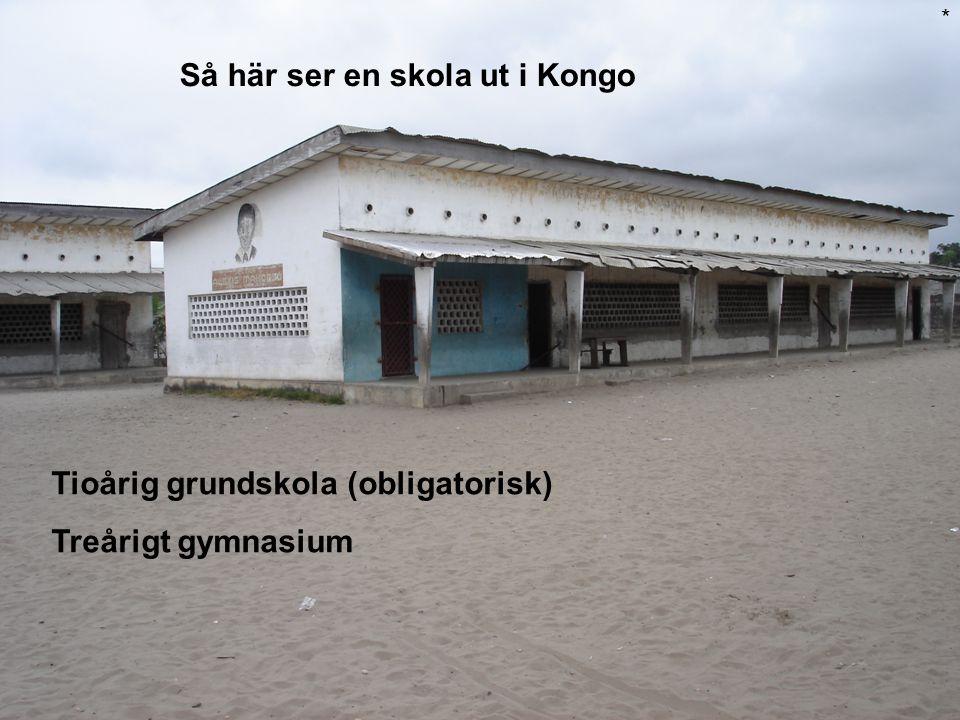 Så här ser en skola ut i Kongo