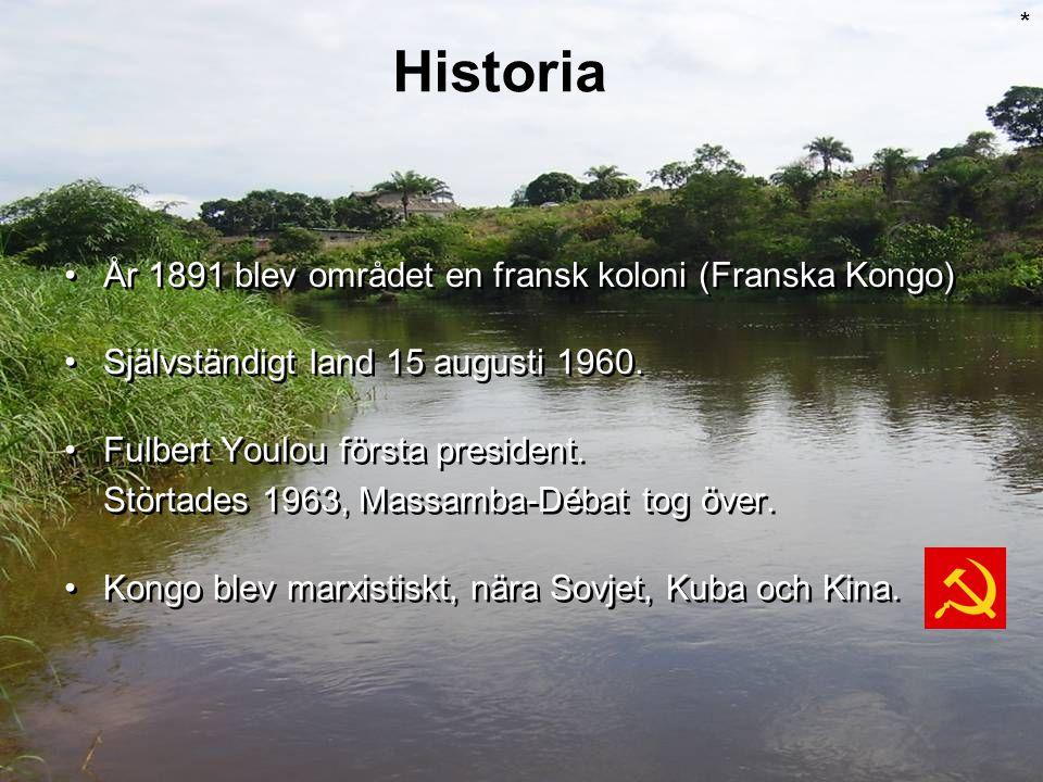 Historia År 1891 blev området en fransk koloni (Franska Kongo)