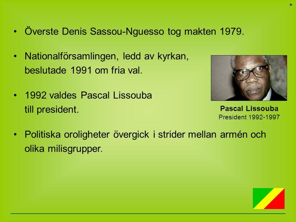 Pascal Lissouba President 1992-1997