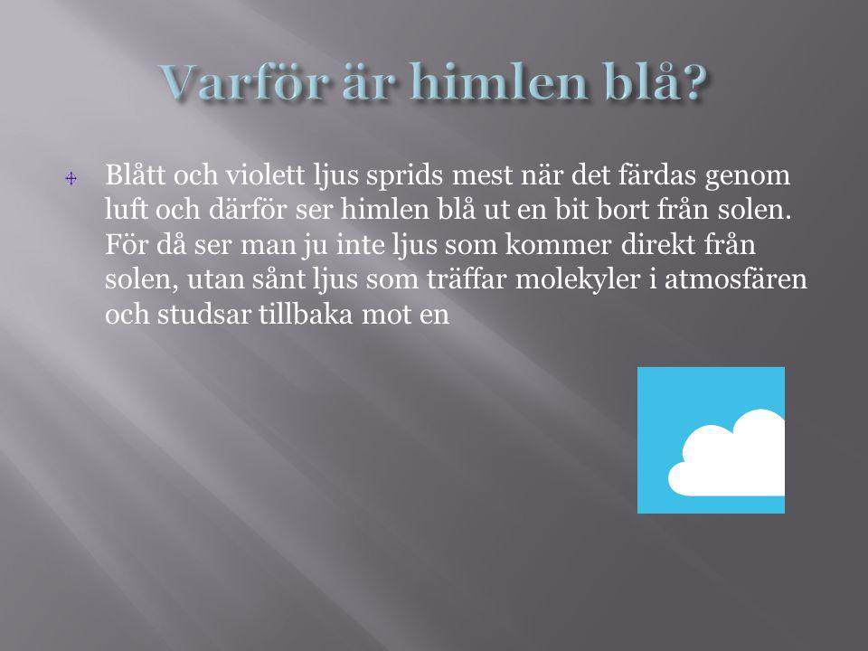 Varför är himlen blå