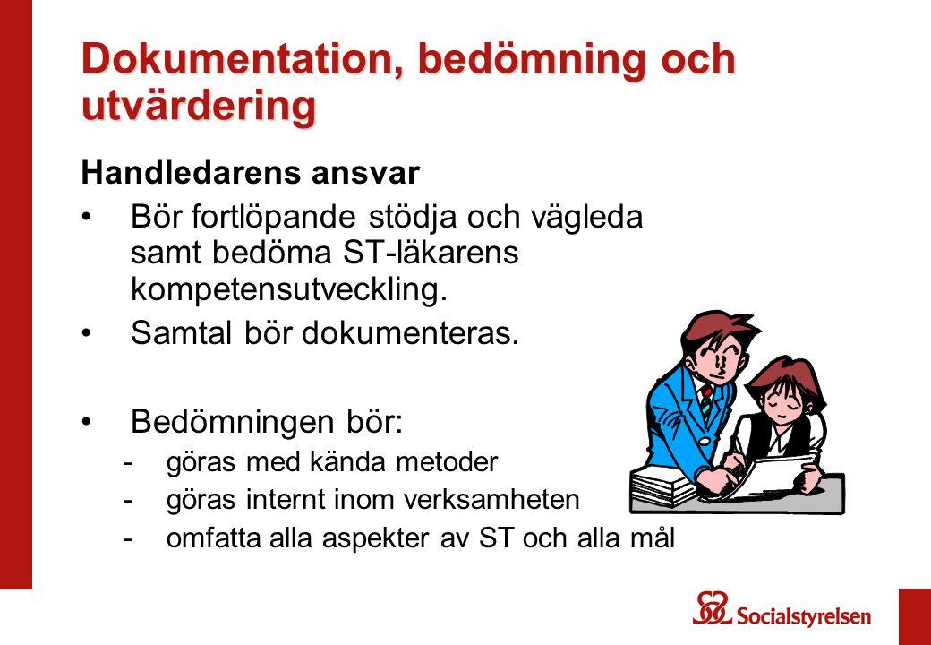 Dokumentation, bedömning och utvärdering